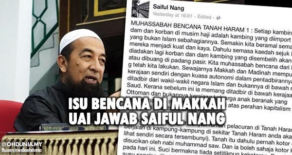 Isu Bencana di Makkah, Ustaz Azhar Idrus jawab Saiful Nang