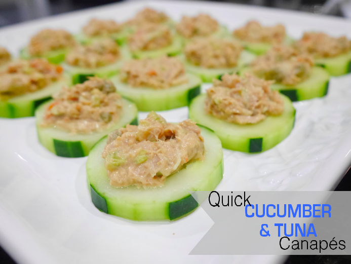 One thousand looks quick cucumber and tuna canape recipe for Simple canape ideas
