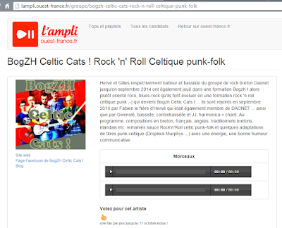BogZH Celtic Cats ! Rock 'n' Roll Celtique Punk Folk - page concours Ouest-France