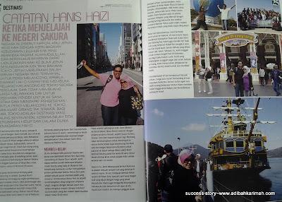 hanis haizi dalam majalah nona menceritakan kejayaan beliau dalam perniagaan premium beautiful corset