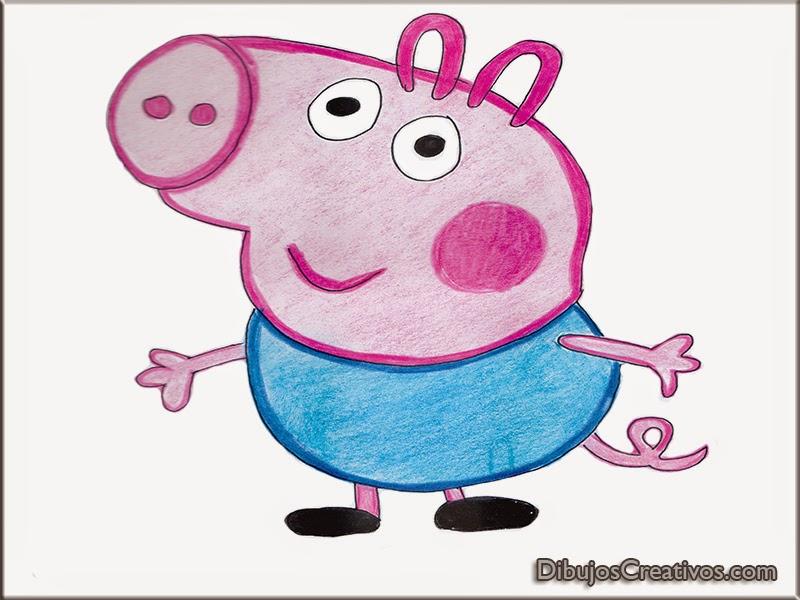 dibujos pintados GEORGE PEPA PIG