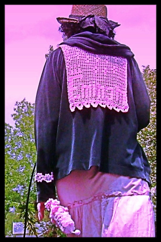filet crochet Eminem nautical collar cuff and clutch