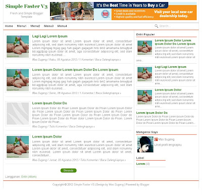 Simple Faster V3 - Responsive, SEO and Fast Blogger Template ...