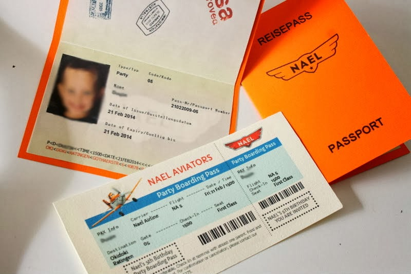 passpost boarding pass invitation