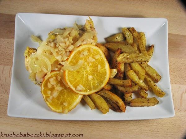 Kurczak zapiekany z pomarańczą :)