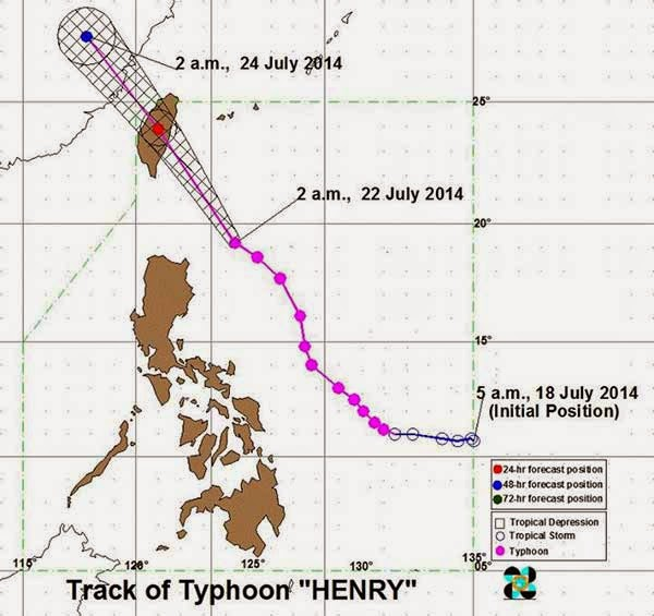 Typhoon Henry July 22, 2014