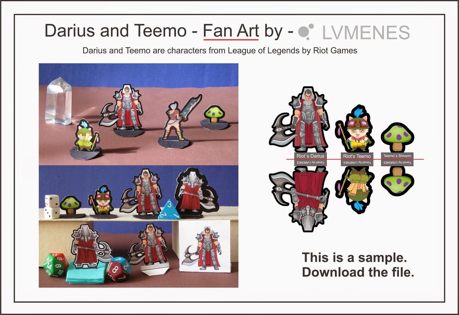 Darius Teemo Paper Minis Miniatures