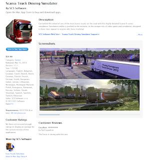 Scania truck driver simulator game ScaniaTDS_MacAppStore