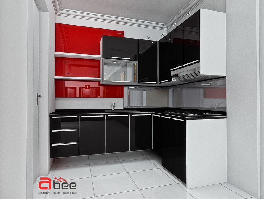 rancangan desain dapur mungil tapi modern terlihat minimalis