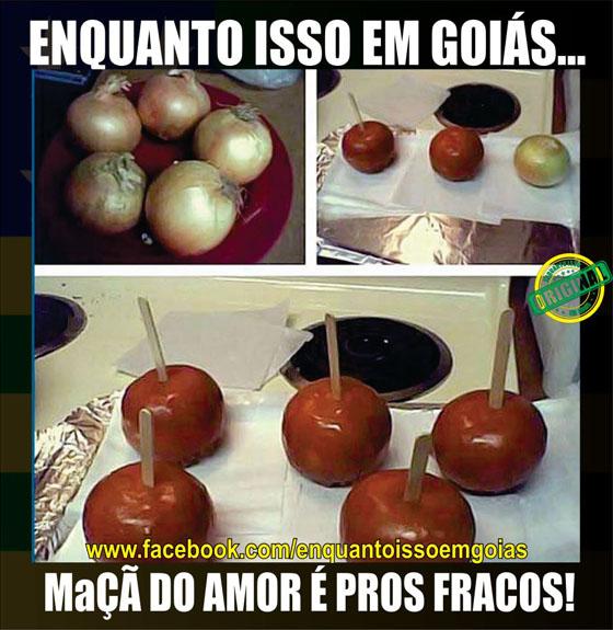 MOTIVACIONAIS: Enquanto isso em Goiás... - Maça do amor para os fracos, agora é cebola do amor...