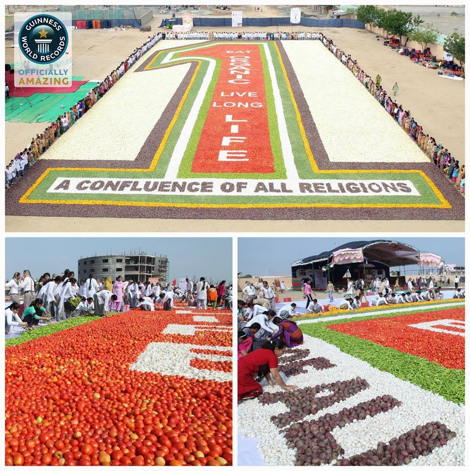 India Creates Worlds Largest Vegetable Mosaic