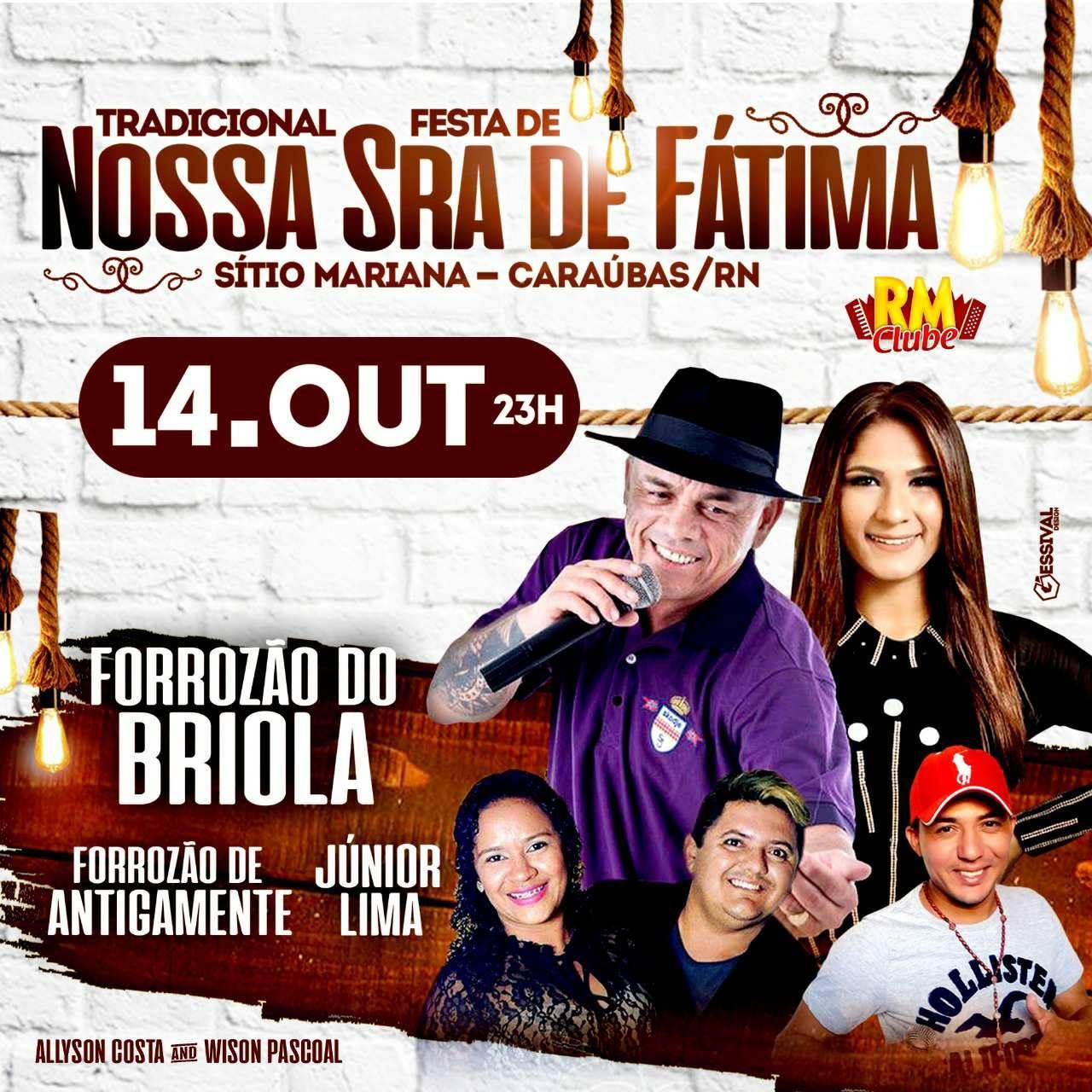 FESTA DE NOSSA SENHORA DE FÁTIMA - MARIANA/CARAÚBAS
