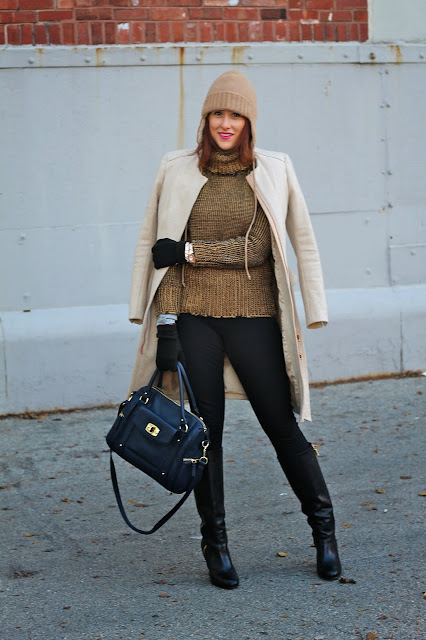 Peplum, Coat, Trapper, hat, J. Crew