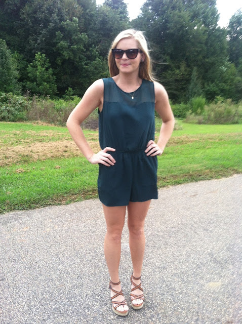 Emerald Romper on Darling Cashmere