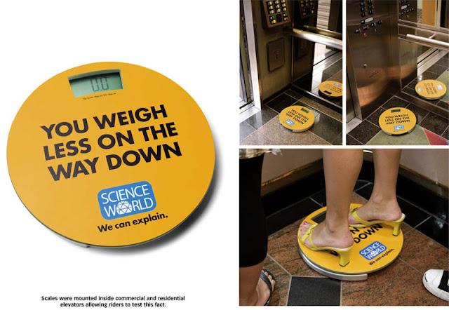 You weigh less on the way down