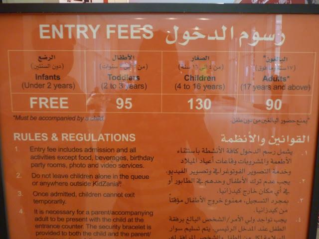 precios  para Kidzania prices for kidzania