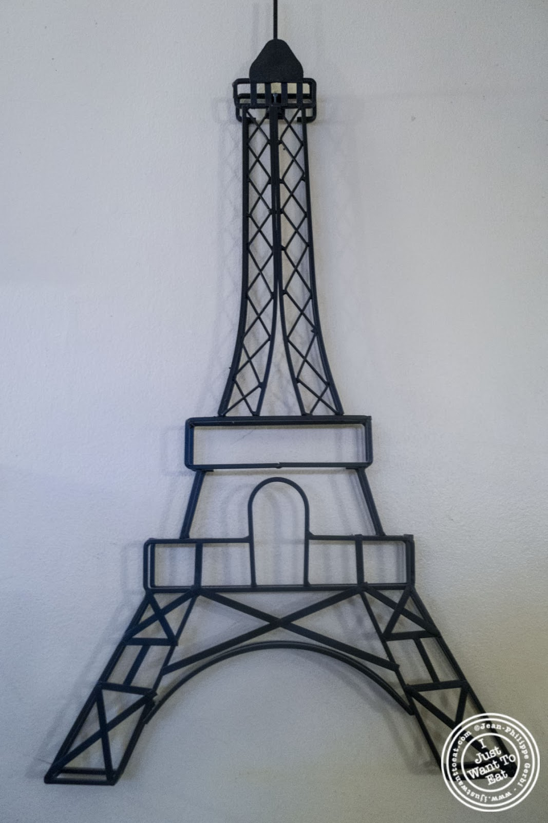image of Eiffel tower at Sel et Poivre on the Upper East Side, NYC, New York