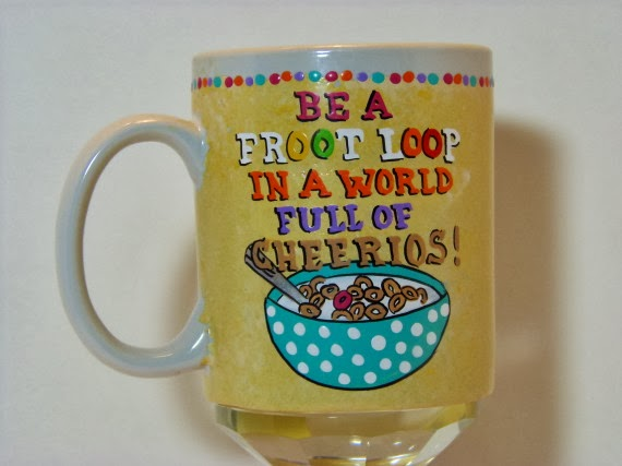 Be a froot loop painted coffee mug
