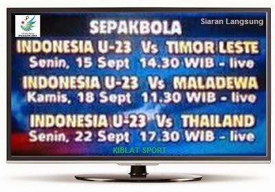 Jadwal & Siaran Langsung Timnas Indonesia U23 Di Asian Games 2014