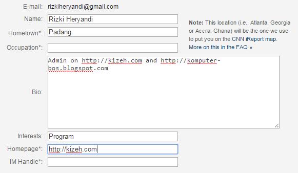 Profil deskripsi dari iReport