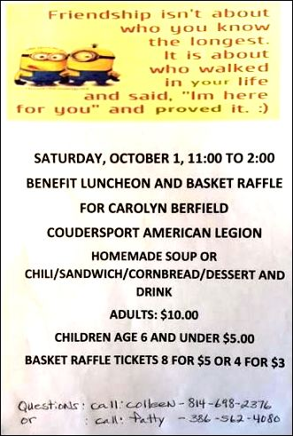 10-1 Benefit For Carolyn Berfield