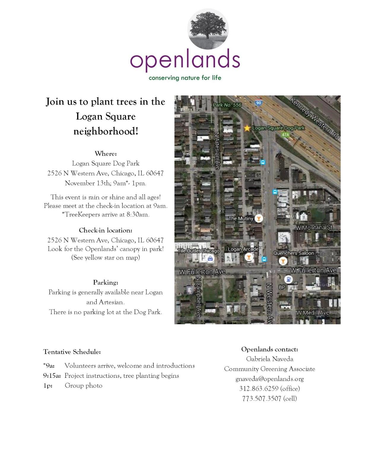Logan Square Dog Park - Map of chicago dog parks