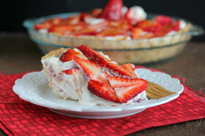 Mrs. Regueiro's Plate: Strawberry Meyer Lemon Cream Pie