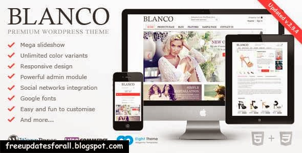 Blanco - Responsive WordPress WooCommerce Theme Free Download