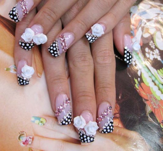 beautiful creative nail art design
