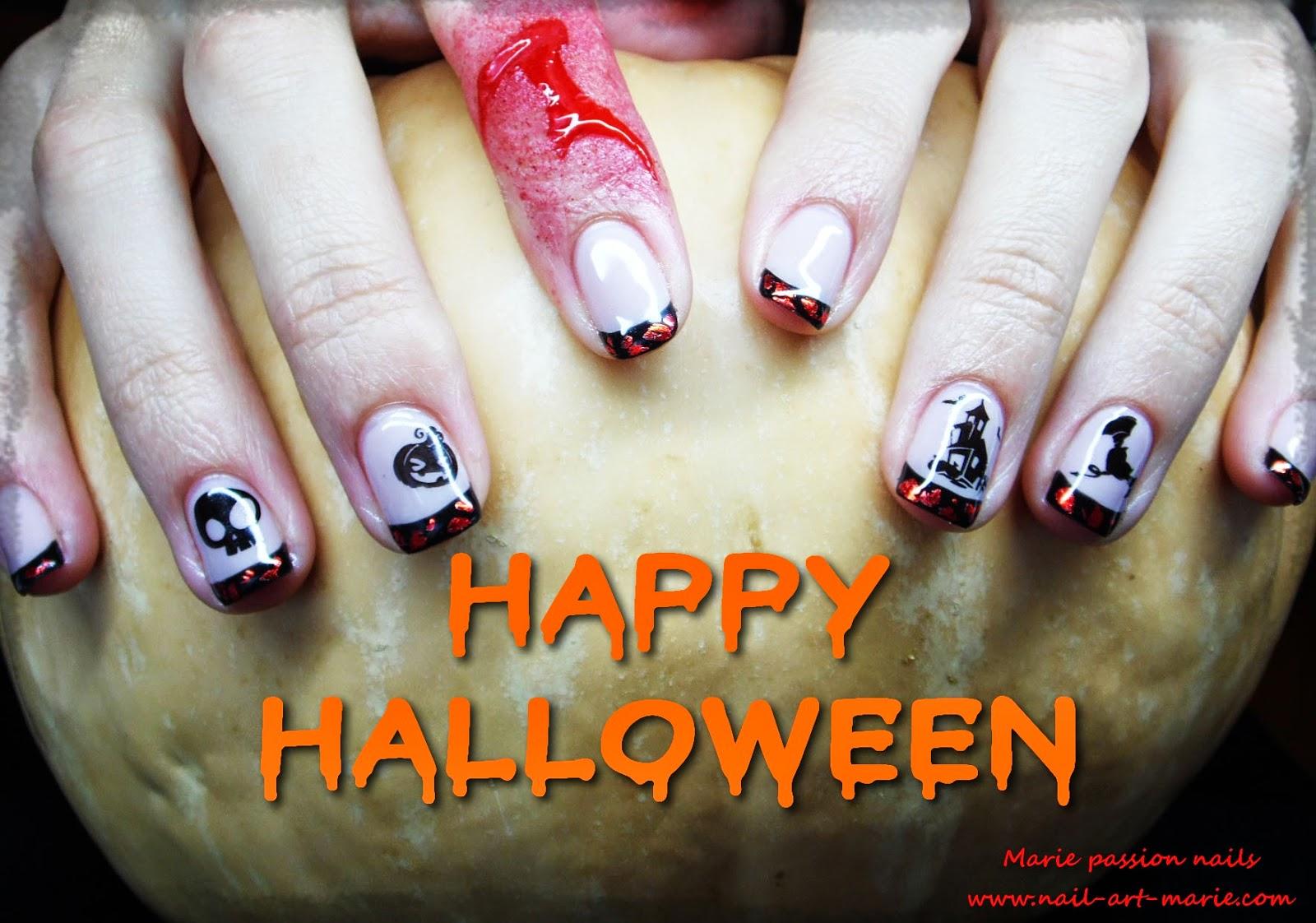 Nail Art d' Halloween en semi-permanent11