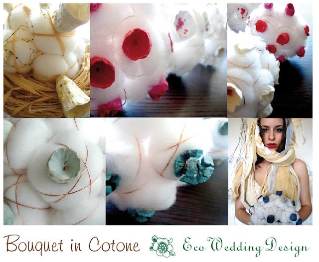 eco bouquet modello in cotone