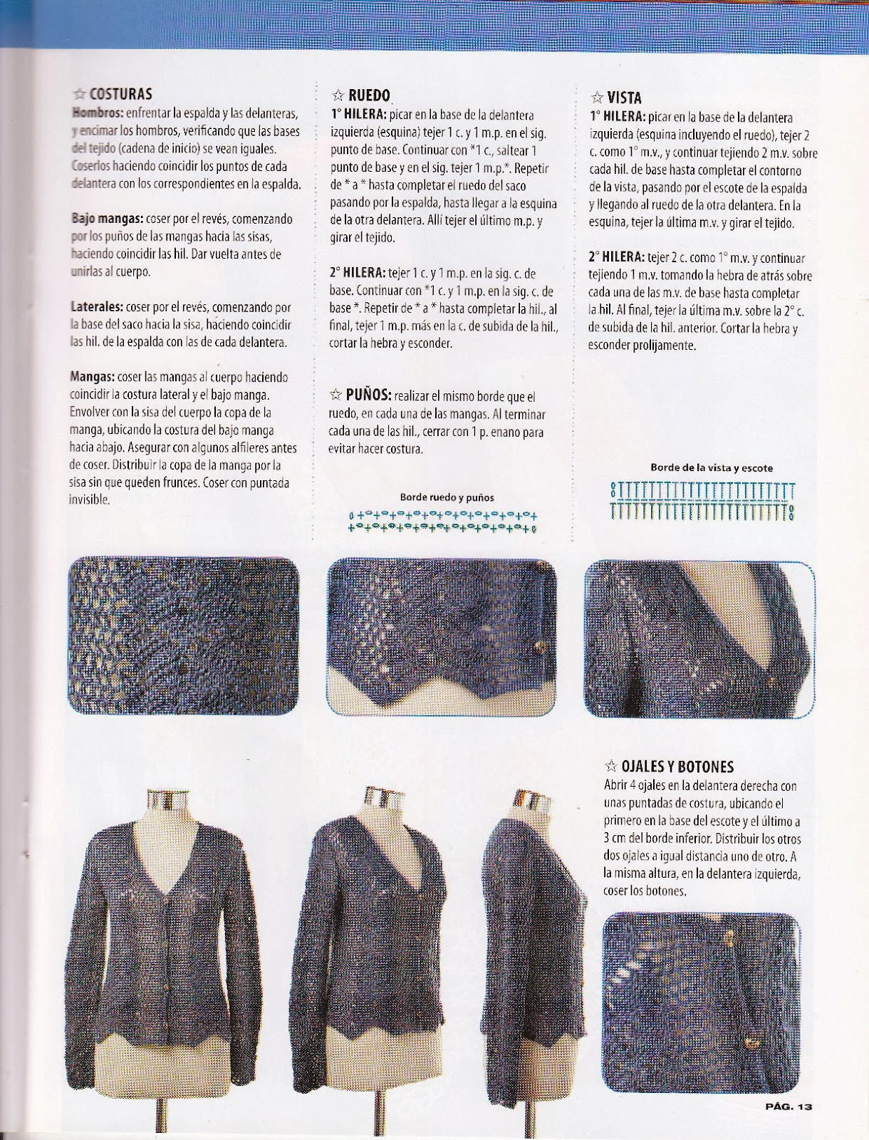 Hojas en simetría ~ Crochet para Ti