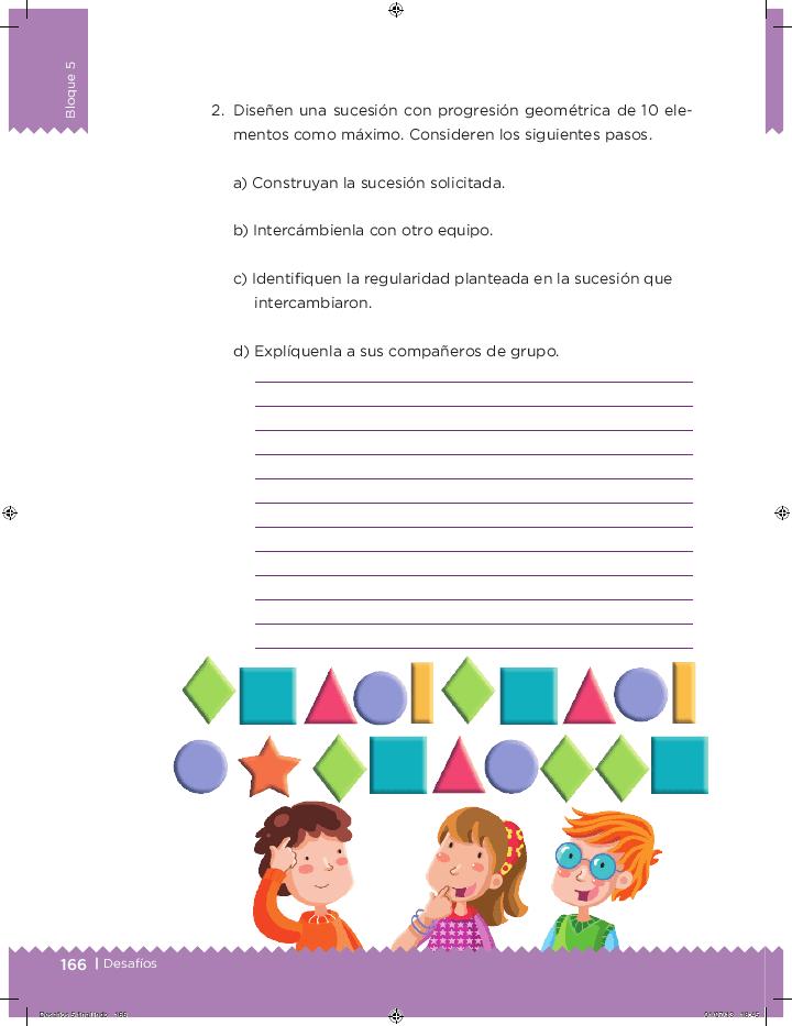 Un patrón de comportamiento - Desafíos matemáticos 5to Bloque 5 2014-2015
