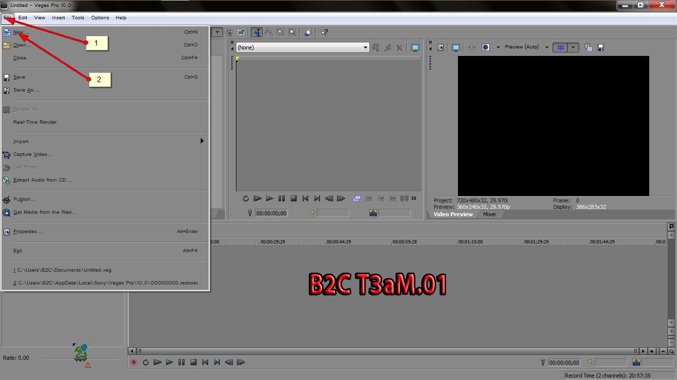 Cara Membuat Texs INTRO di sony vegas pro ~ B2C.TEAM