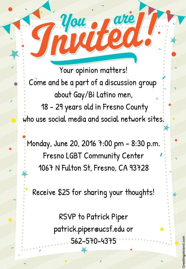 focus group monday at the lgbt center