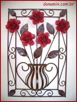 quadro com flores de ferro