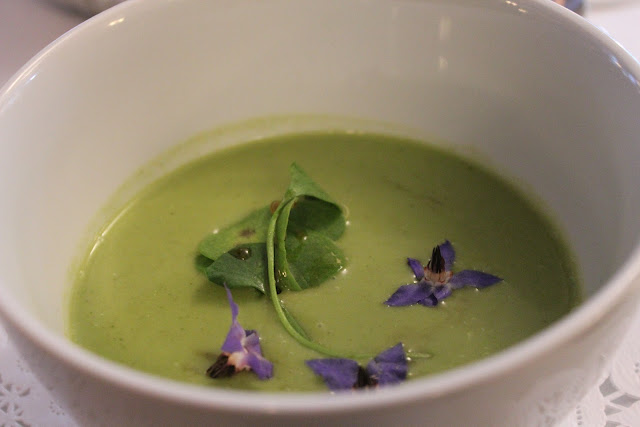 Wild watercress soup at Beacon Hill Bistro, Boston, Mass.