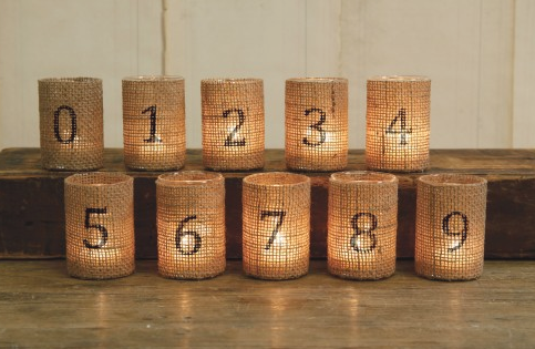 Wedding Table Decorations With Burlap