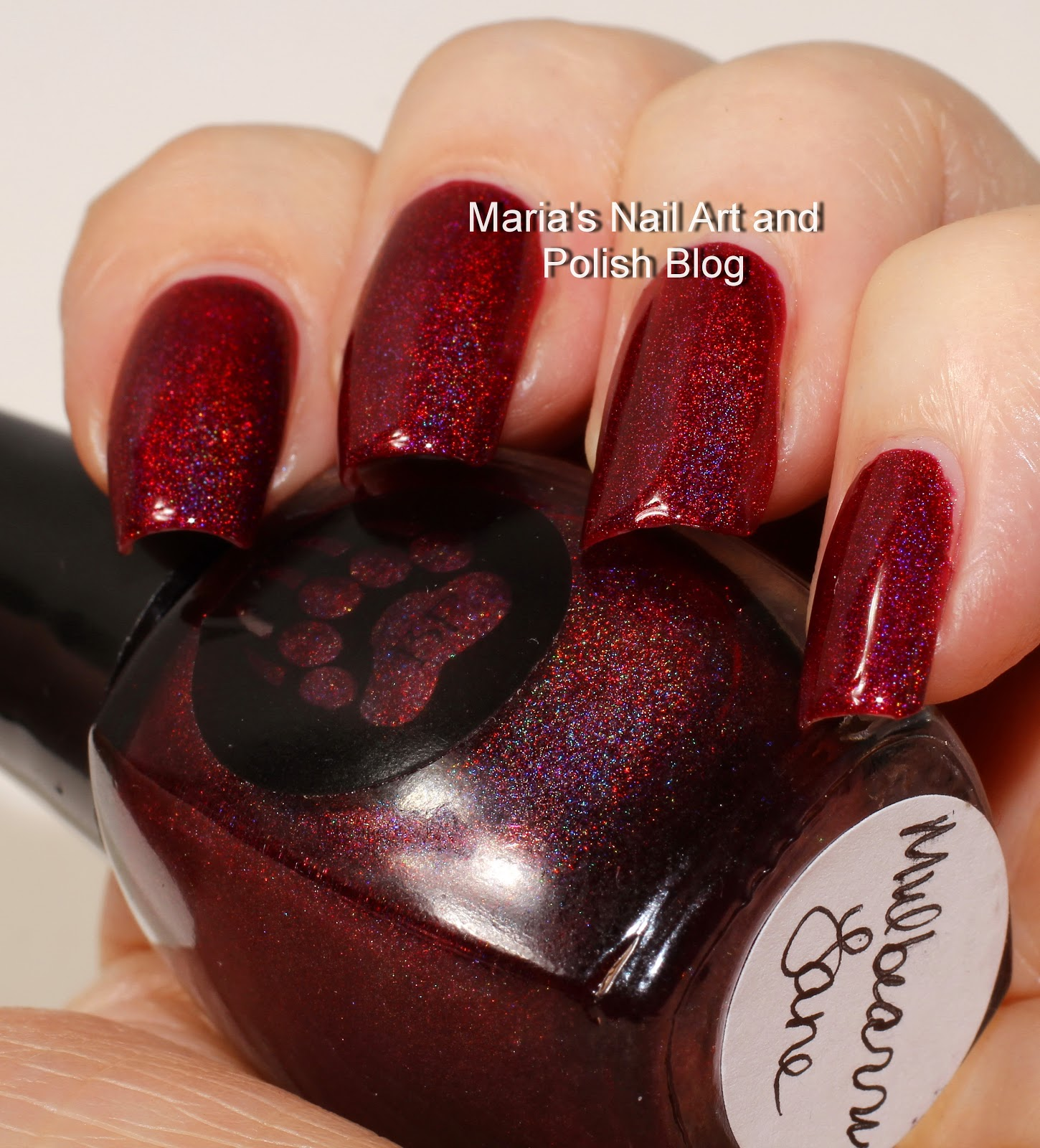 Marias Nail Art And Polish Blog Flushed With Stripes And: Marias Nail Art And Polish Blog: Bear Pawlish Mulbearry