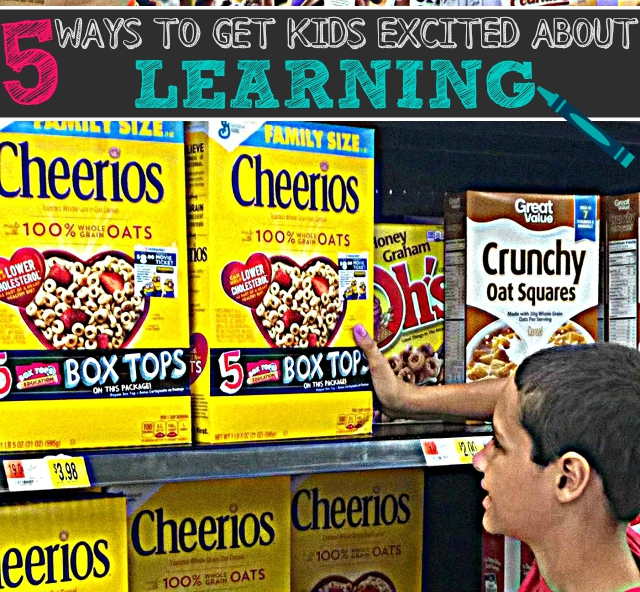 5 Ways To Get Kids Excited About Learning #BTFE - Box Tops For Education Walmart One Savvy Mom onesavvymom blog nyc