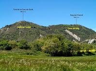 El Turó de la Creu de Gurb i el Puig del Portell des de Can Barnoles