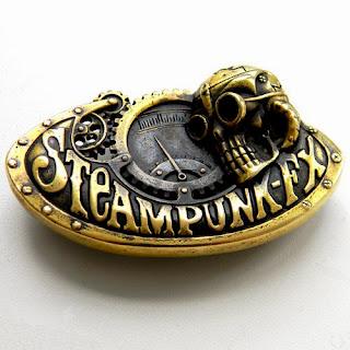 """Пряжка """"Steampunk"""" (Стимпанк) купить для ремня металлическая"""