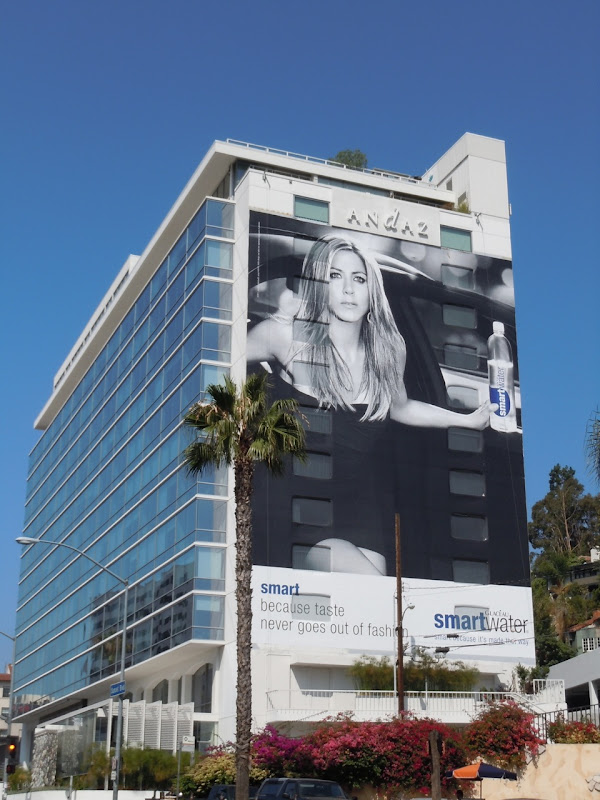 Jennifer Aniston Smart Water billboard 2011