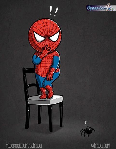 funny Spiderman comics pics