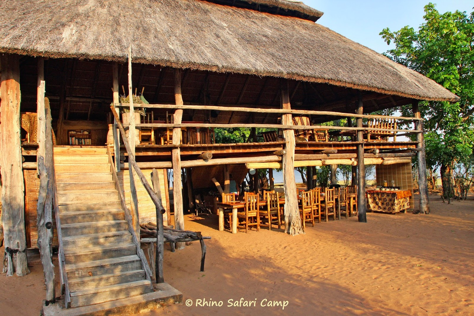 The main lounge and dining area - Rhino Safari Camp