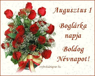 Augusztus 1 - Boglárka névnap