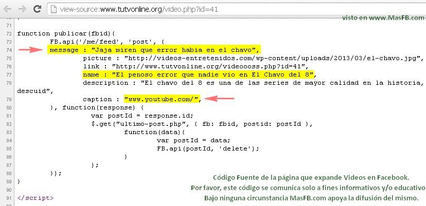 Código SPAM en tuTVonline