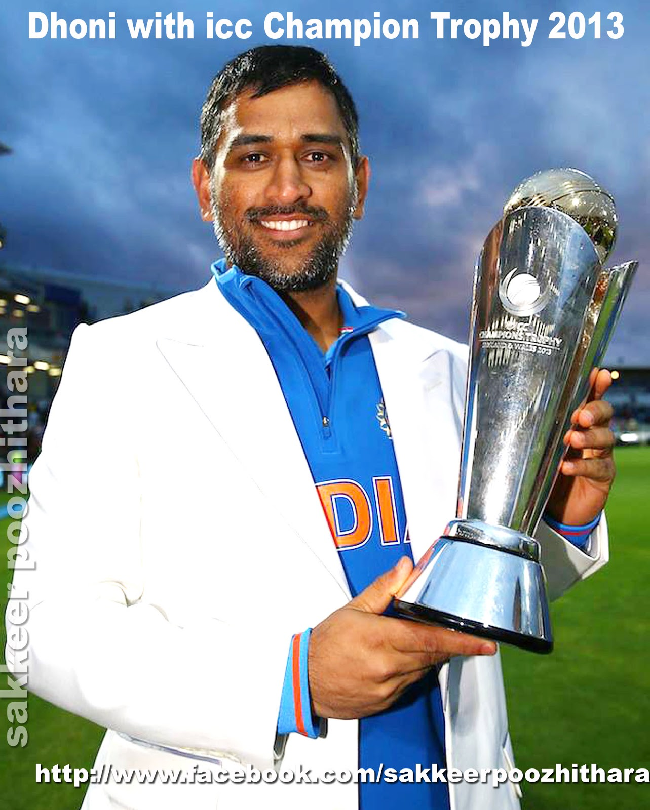 Dhoni With Icc Champion Trophy 2013 ICC T20 WORLD CUP 2007 2011