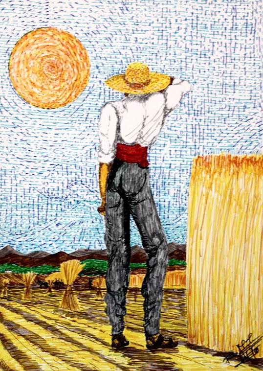 Recogida de trigo 23-7-91