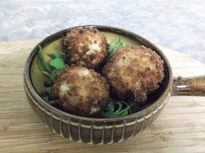 How to make cheese balls with rice and onion. Suitable for vegetarians.